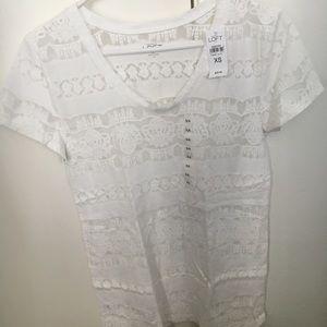 Ann Taylor LOFT  White T-shirt